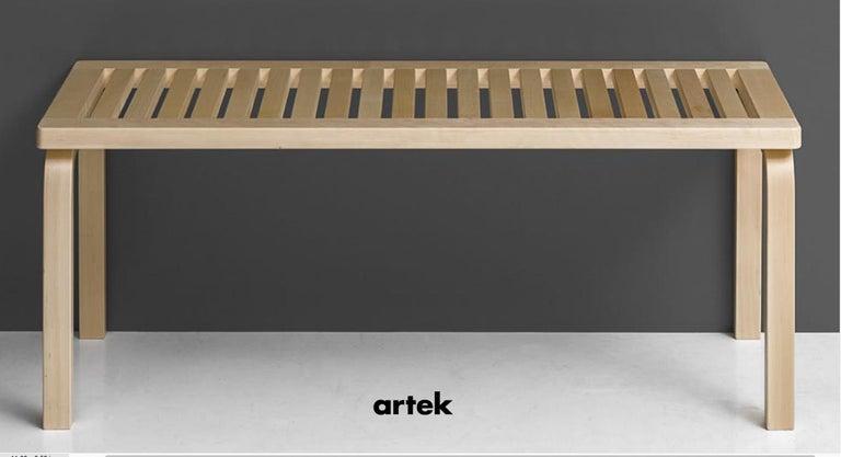 Finnish Alvar Aalto 153A Bench for Artek in Solid Birch For Sale
