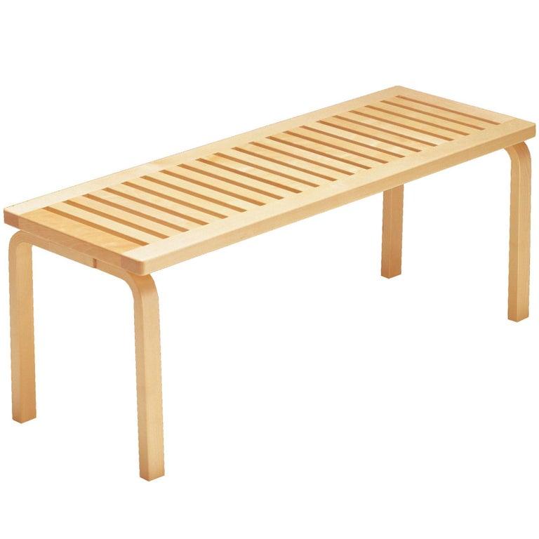 Alvar Aalto 153A Bench for Artek in Solid Birch For Sale