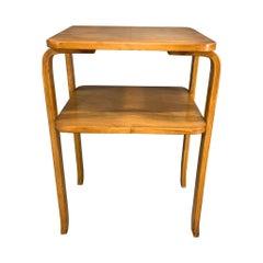 Alvar Aalto 2-Tied Side Table with Shelf for Artek
