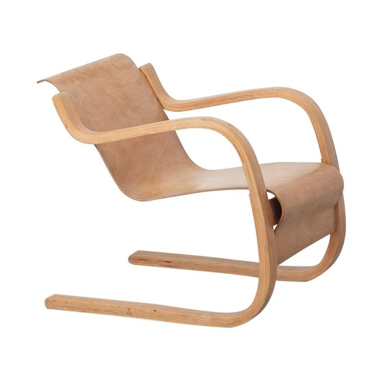 Alvar Aalto 31 Lounge Chair for the Paimio Sanitorium, Finland, 1931 For Sale