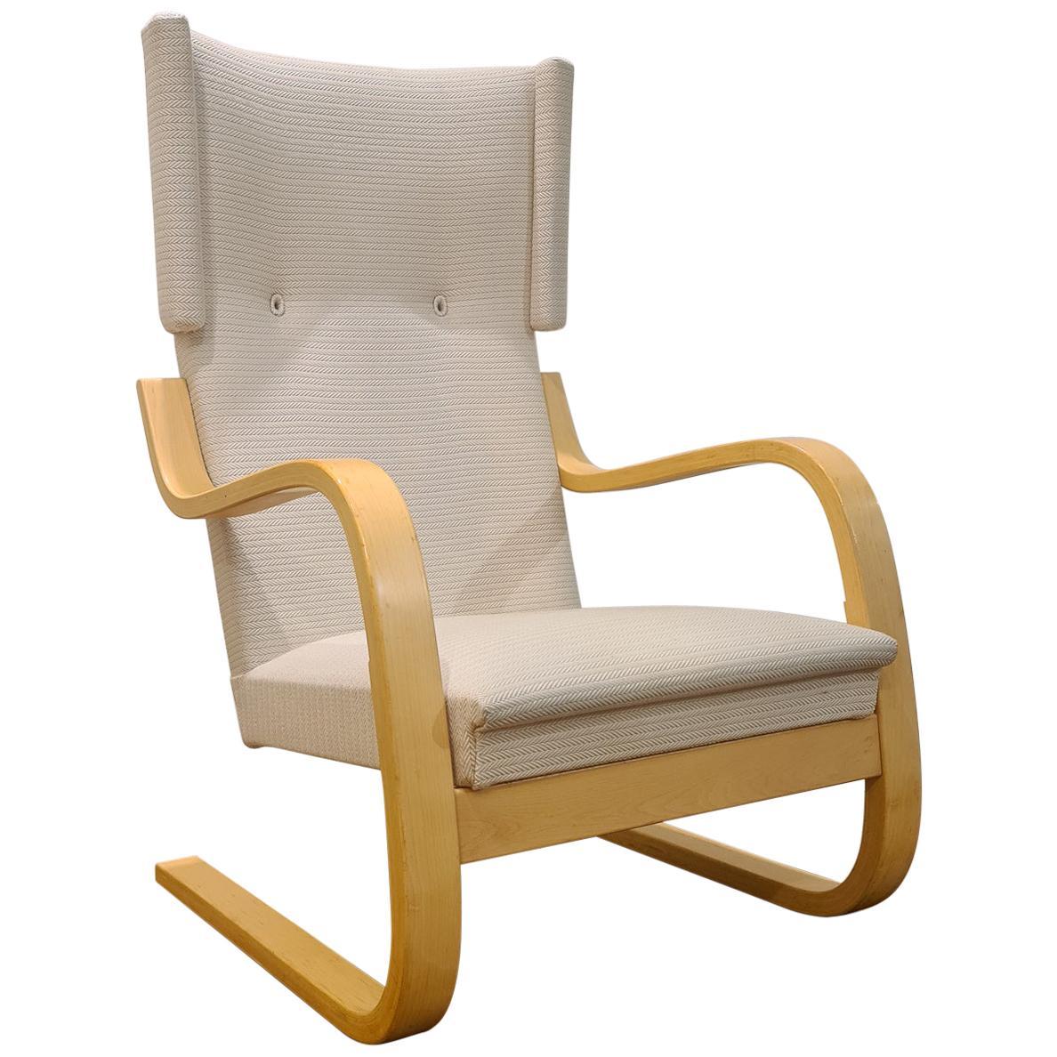 Alvar Aalto 401 Wingback Chair Artek, Finland, 1970