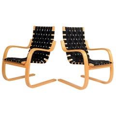 Alvar Aalto 406 Lounge Chairs for Artek
