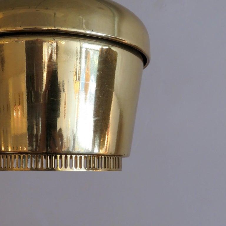 Alvar Aalto A330 Golden Bell, Pendant Light, 1960 In Good Condition In Los Angeles, CA
