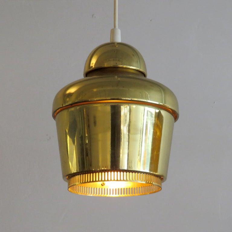 20th Century Alvar Aalto A330 Golden Bell, Pendant Light, 1960