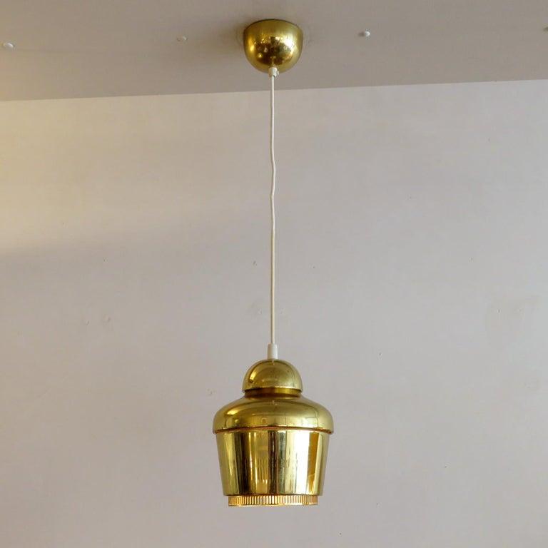 Brass Alvar Aalto A330 Golden Bell, Pendant Light, 1960