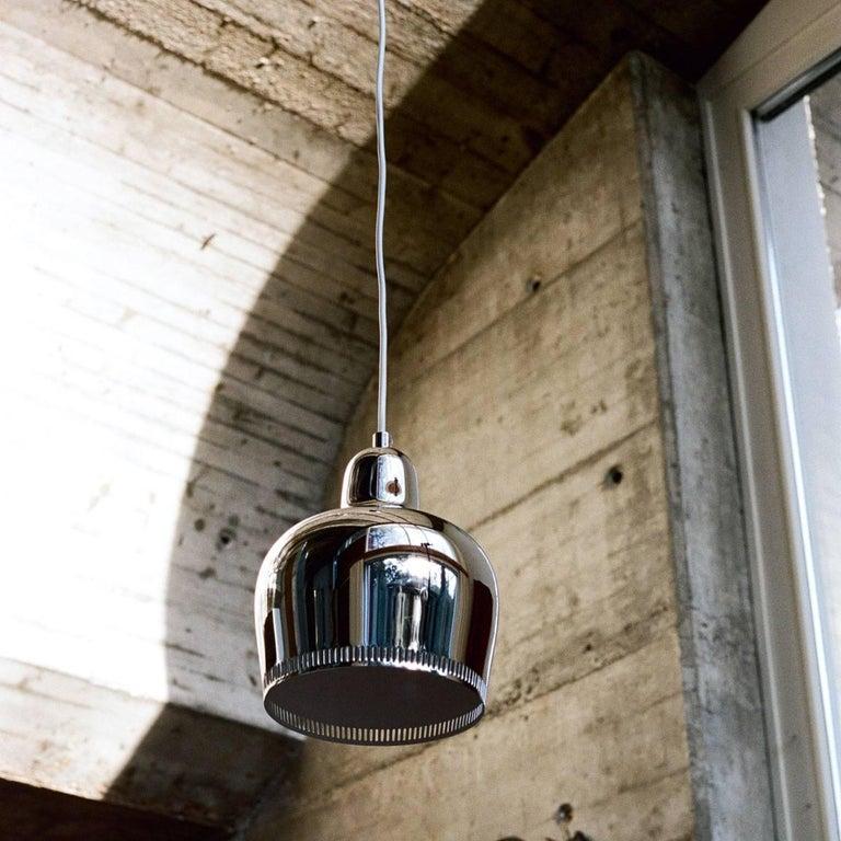 Brass Alvar Aalto A330s 'Golden Bell' Black Pendant Light for Artek For Sale