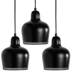 Alvar Aalto A330s 'Golden Bell' Black Pendant Light for Artek