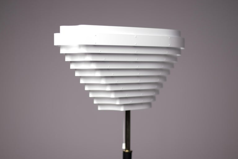 Scandinavian Modern Alvar Aalto A805 Angel Wing Floor Lamp For Sale