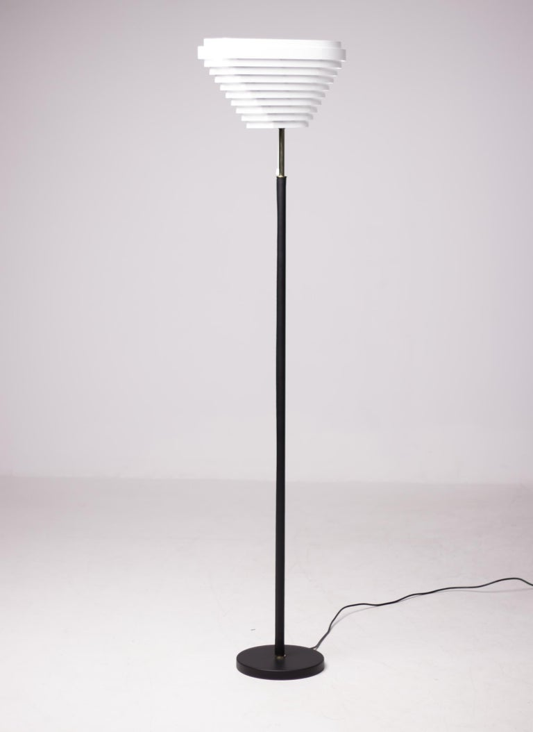 Enameled Alvar Aalto A805 Angel Wing Floor Lamp For Sale