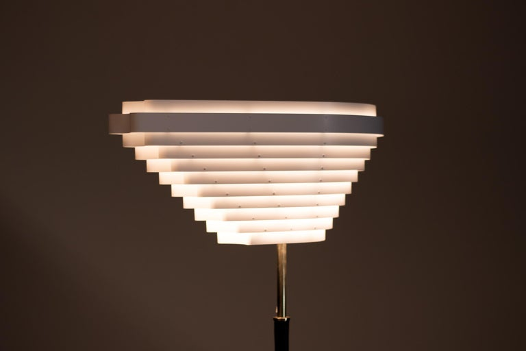 Leather Alvar Aalto A805 Angel Wing Floor Lamp For Sale