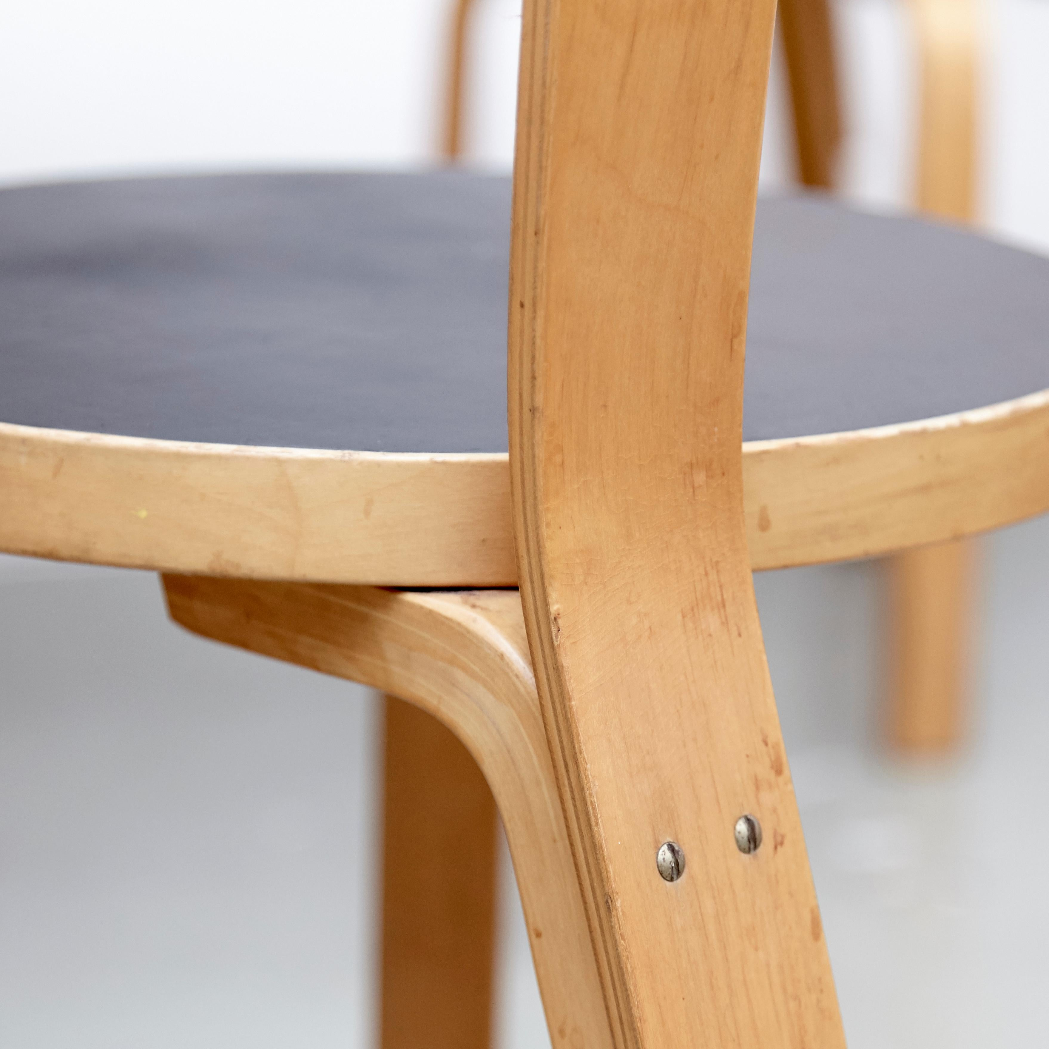 Alvar Aalto Dining Table and Four Chairs