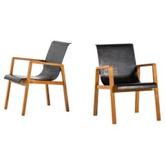 Alvar Aalto Early Armchairs Model 403 Produced by Artek in Finland