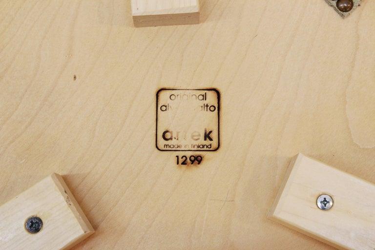 Alvar Aalto for Artek Scandinavian Modern Upholstered Stools For Sale 2