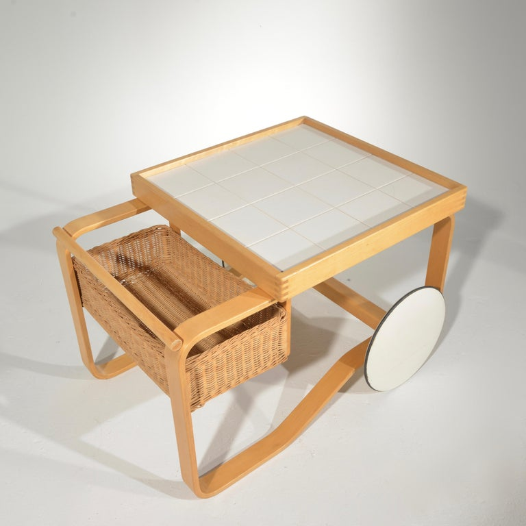 Alvar Aalto for Artek Tea Cart Model 900 For Sale 3