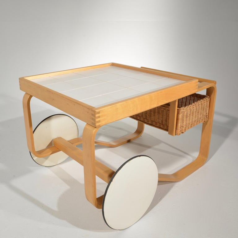 Scandinavian Modern Alvar Aalto for Artek Tea Cart Model 900 For Sale