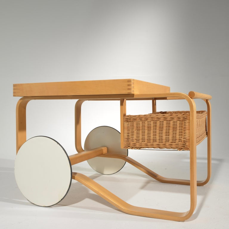 Mid-20th Century Alvar Aalto for Artek Tea Cart Model 900 For Sale