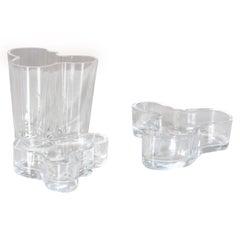 Alvar Aalto Glass Savoy Vase and Bowls