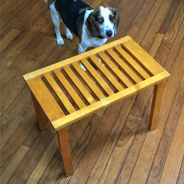 Alvar Aalto L-Leg Bench/ Table Model 106 For Sale 3