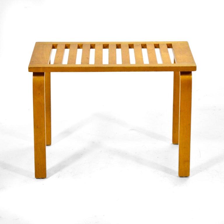 Scandinavian Modern Alvar Aalto L-Leg Bench/ Table Model 106 For Sale