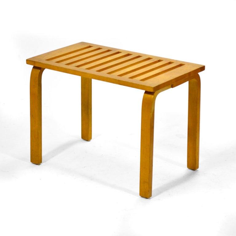 Finnish Alvar Aalto L-Leg Bench/ Table Model 106 For Sale