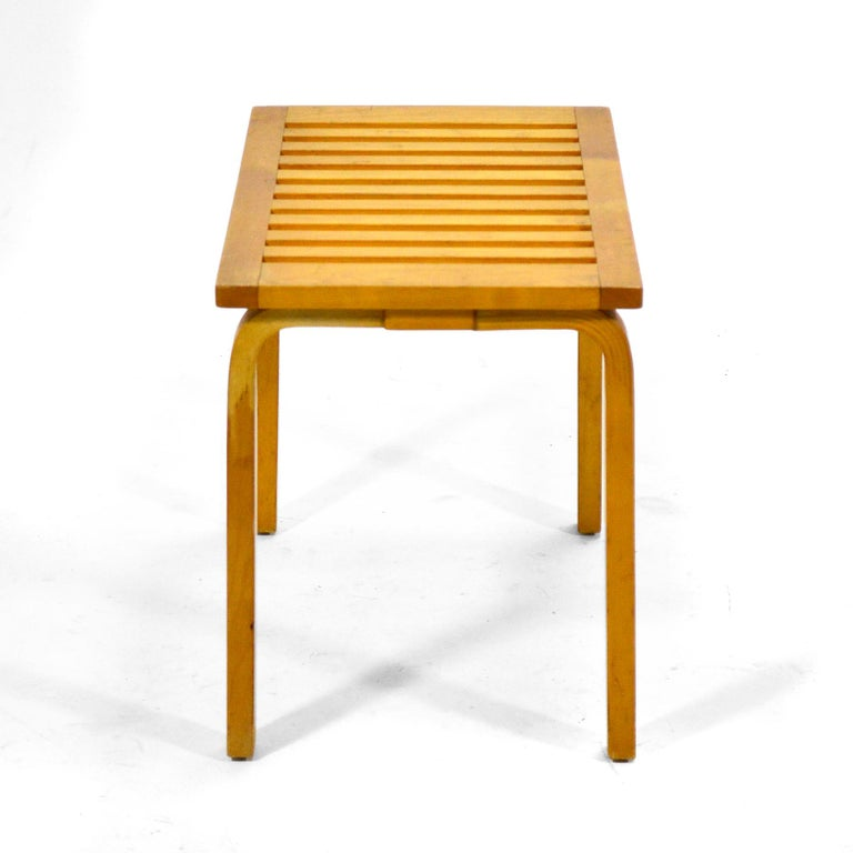 Alvar Aalto L-Leg Bench/ Table Model 106 In Good Condition For Sale In Highland, IN