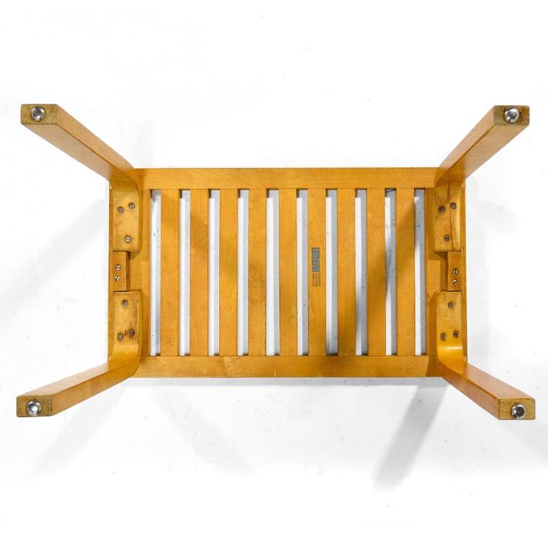 Birch Alvar Aalto L-Leg Bench/ Table Model 106 For Sale