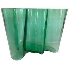 Alvar Aalto Large Savoy Vase in Emerald Green for Iittala