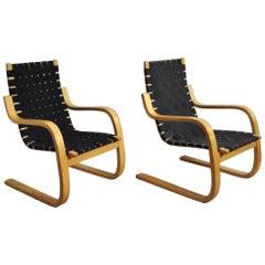 Alvar Aalto Lounge Chair, Model 406 by Artek