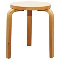 Alvar Aalto Mid-Century Modern Wood Stool for Artek, circa 1960