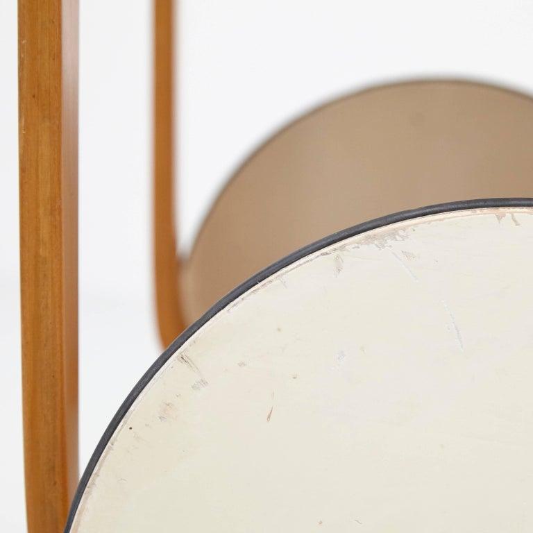Alvar Aalto Mid-Century Modern Wood, Tiles and Rattan Tea Trolley Model 900 For Sale 1