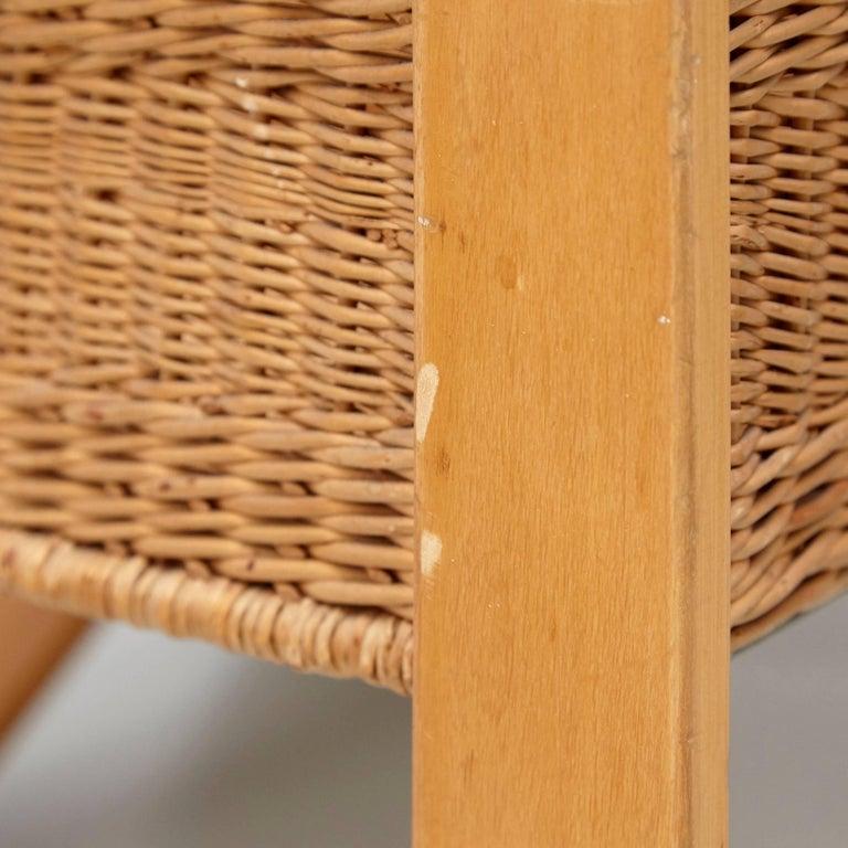 Alvar Aalto Mid-Century Modern Wood, Tiles and Rattan Tea Trolley Model 900 For Sale 4