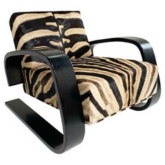 "Alvar Aalto Model 400 ""Tank"" Lounge Chair in Zebra"