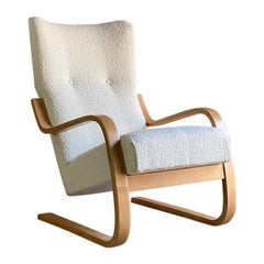 Alvar Aalto Model 401 Cantilever Lounge Chair Bouclé by Finmar circa 1940 No:1