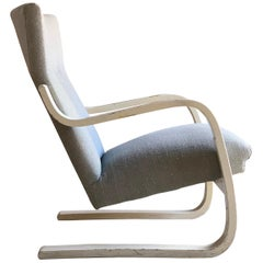 Alvar Aalto Model 401 Lounge Chair Armchair by Artek, circa 1938