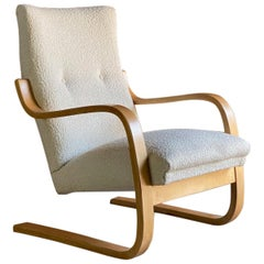 Alvar Aalto Model 401 Lounge Chair in Bouclé Finland circa 1938 No 2
