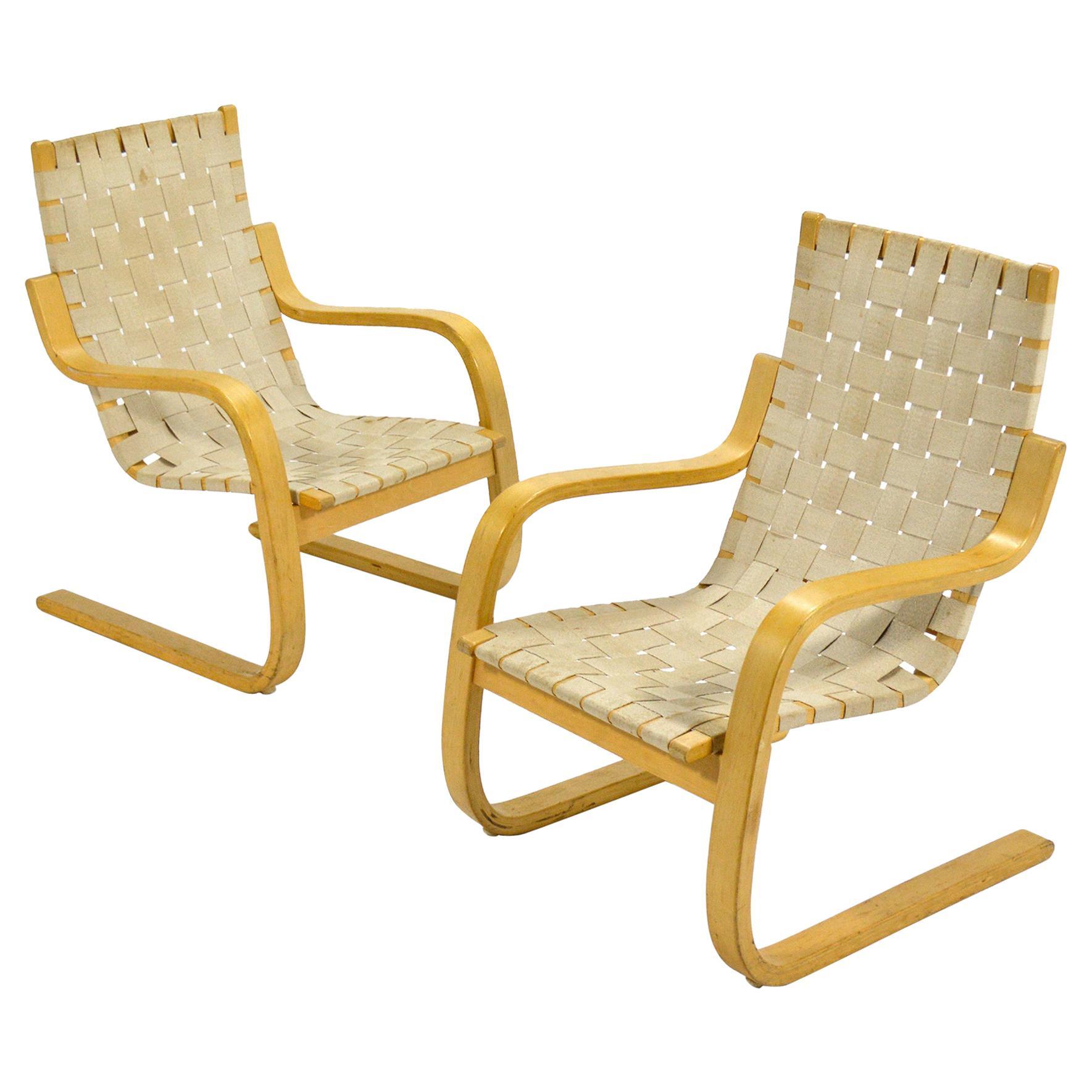Alvar Aalto Model 406 Lounge Chairs