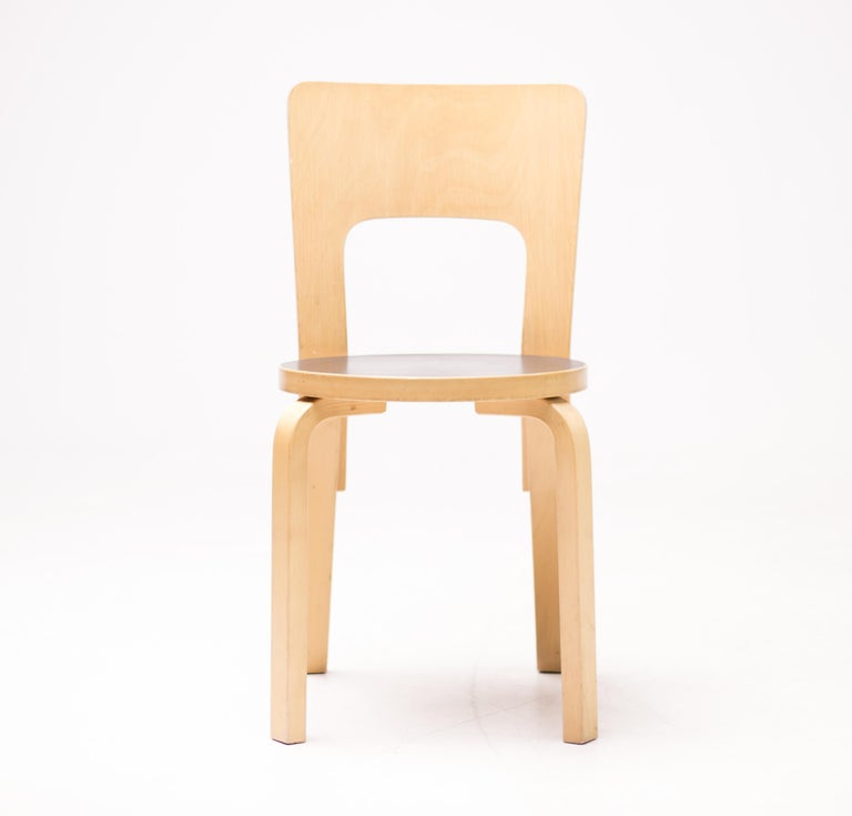Mid-20th Century Alvar Aalto Model 66 Chairs For Sale