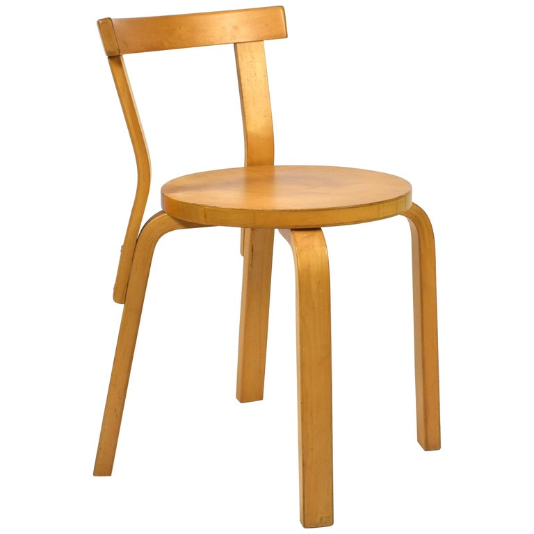 Alvar Aalto Model 68 Chair for Artek, Finland, circa 1970 For Sale