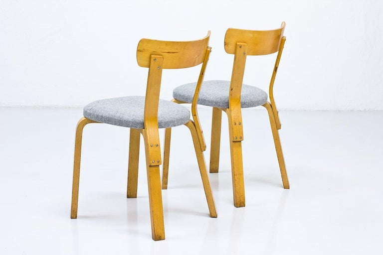 Swedish Alvar Aalto, Model 69 Chair, Set of 2 For Sale