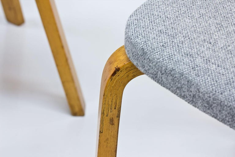 Wool Alvar Aalto, Model 69 Chair, Set of 2 For Sale