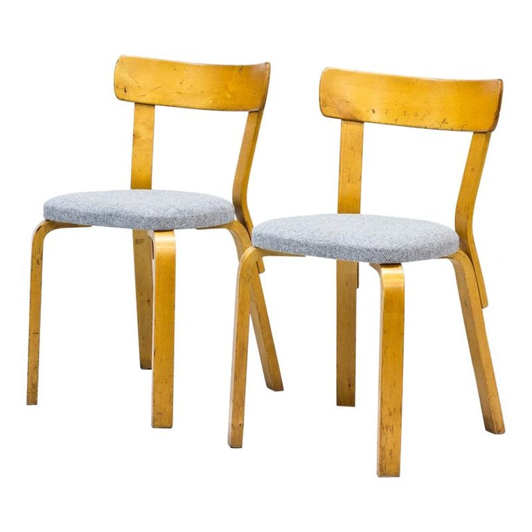 Alvar Aalto, Model 69 Chair, Set of 2 For Sale