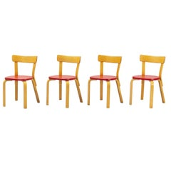 Alvar Aalto, Model 69 Chair, Set of 4 from 1950