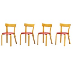 Alvar Aalto, Model 69 Chair, Set of 4 from 1950