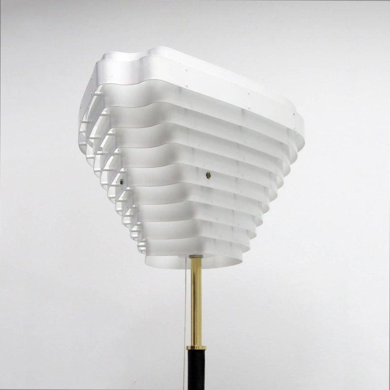 Finnish Alvar Aalto Model A805 'Angel Wing' Floor Lamp For Sale