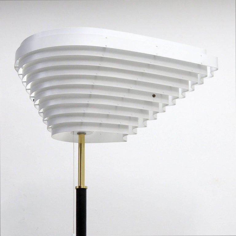 Enameled Alvar Aalto Model A805 'Angel Wing' Floor Lamp For Sale
