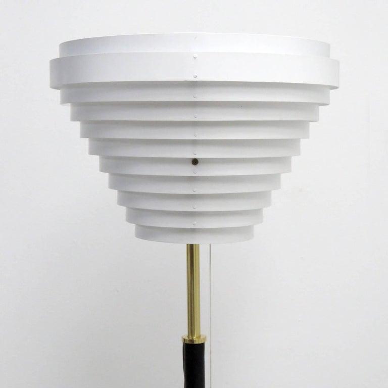 Alvar Aalto Model A805 'Angel Wing' Floor Lamp In Good Condition For Sale In Los Angeles, CA