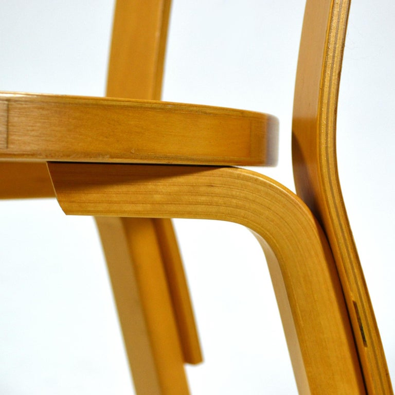 Alvar Aalto Pair of Model 66 Chairs For Sale 1