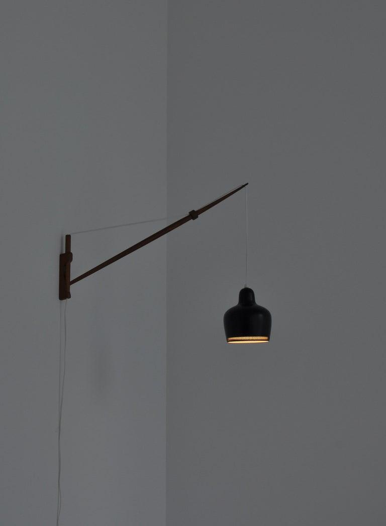 Alvar Aalto Pendant Wall Lamp, Louis Poulsen, 1960s Scandinavian Modern For Sale 3