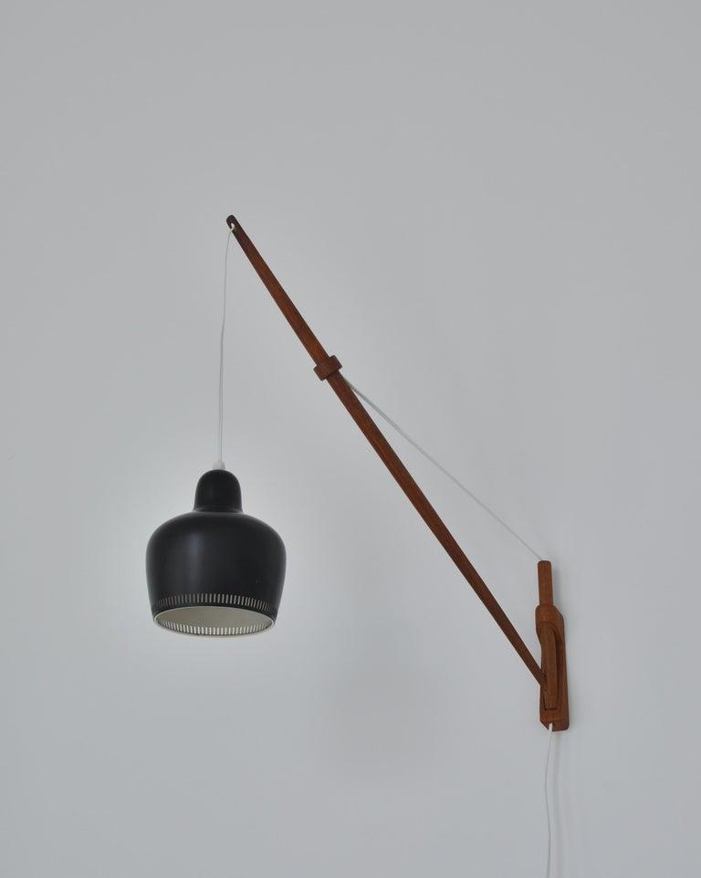 Danish Alvar Aalto Pendant Wall Lamp, Louis Poulsen, 1960s Scandinavian Modern For Sale