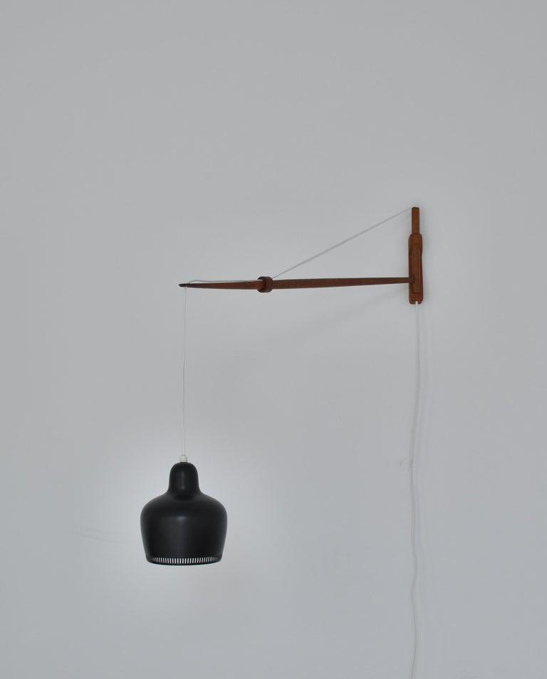 Mid-20th Century Alvar Aalto Pendant Wall Lamp, Louis Poulsen, 1960s Scandinavian Modern For Sale